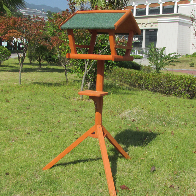 Wholesale New Unfinished Wooden Bird House Crafts Chinese Bird Cage Feeder For Indoor and Outdoor