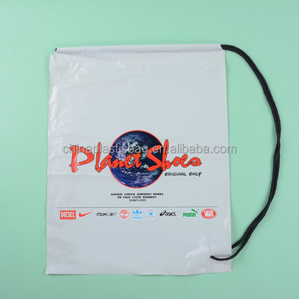 custom printed drawstring shoes bag promotional products made in china