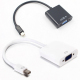 Mini DP to VGA Video Adapter 1080p Thunderbolt Display Port to VGA Cables For Apple Macbook Pro Air