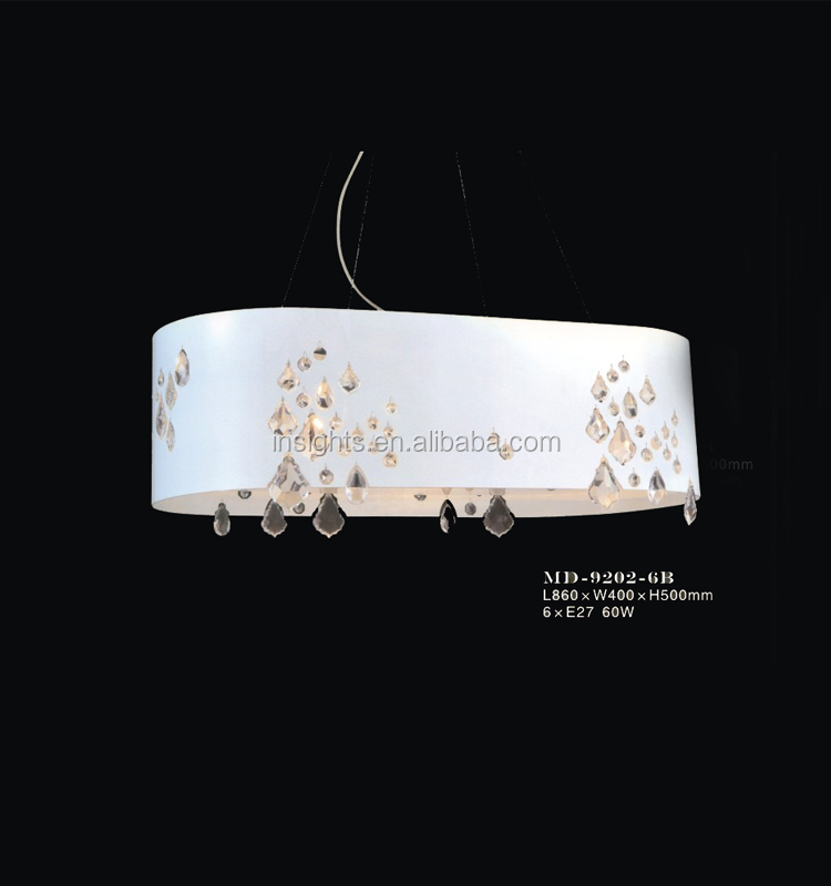 Vintage Pvc Lamp Shade With Crystal Table / Desk Lamp
