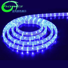Low price BLUE LED Rope light 4wires Flat CE&RoHS.Multi-Color