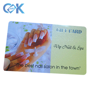 Customized plastic gift post cards printing with logo printable.