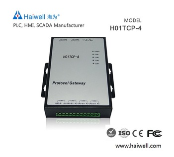 Haiwell H01TCP-4 powerful protocol gateway for industry automation