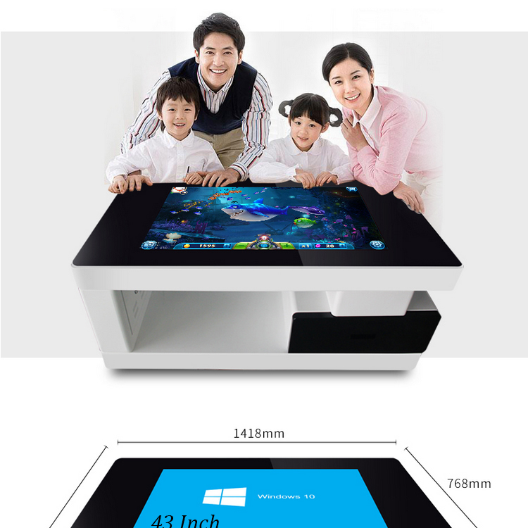 New products 2017 interactive touch screen coffee table