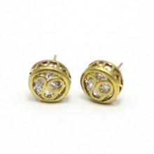 dia 9.5mm round cheap cheap raw material cc earrings
