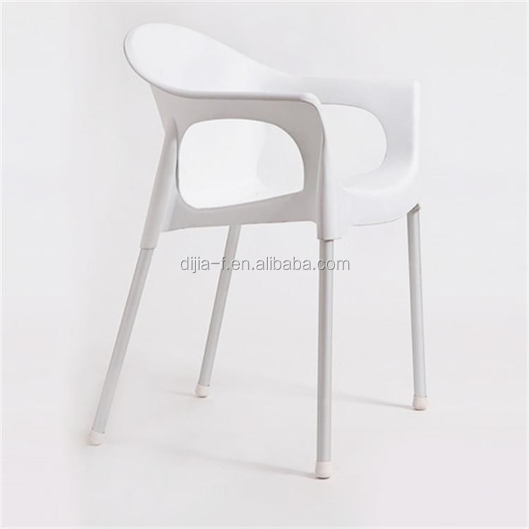 Wholesale Clear Chairs Stackable Plastic Chairs With Metal Legs