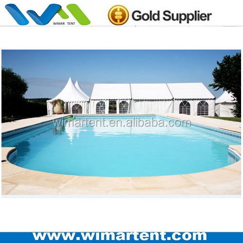 China supply party width 10m pvc cover swimming pool tent