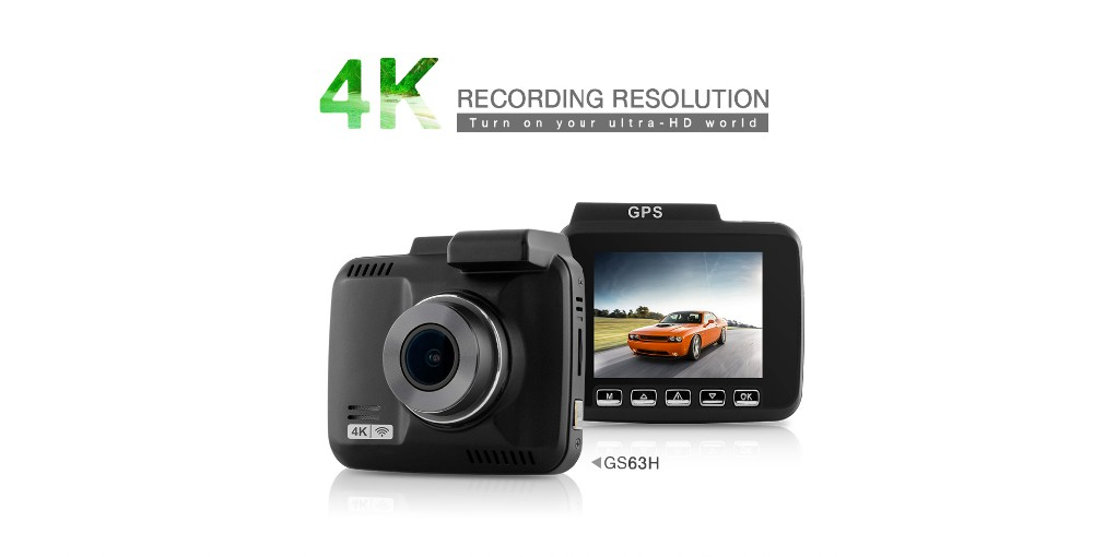 4K Car Dash Cam GS63H Novatek NTK96660 with Built in GPS WiFi