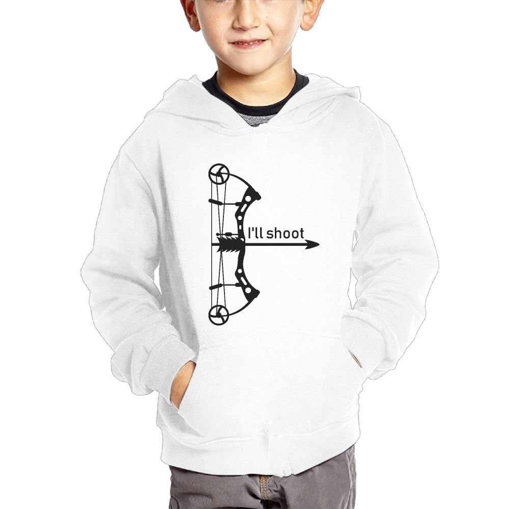 Archery Funny Youth Casual with Pocket Hoodies Crew Neck Pullover Sweatshirts