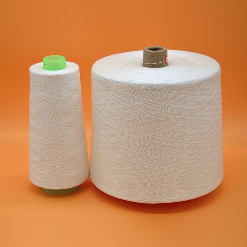 Wholesale Raw White Hubei Factory 30s/2 Dye Spun Polyester Yarn Sewing Thread