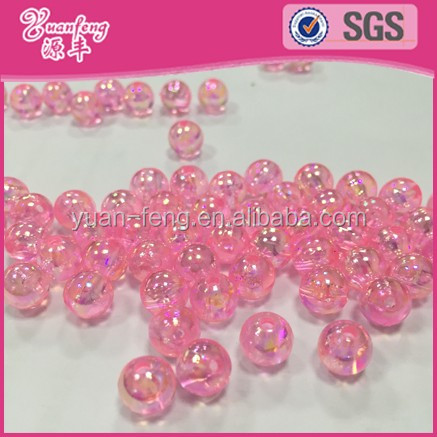 Lovely Pink Plastic Beads For Jewelry Making Wholesale All Types Of AB Color Beads
