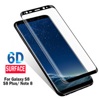 6D Curved Full Cover Mobile Phone Tempered Glass Screen Protector Film For Samsung Galaxy S9 S8 Plus Note 8 S7 S6 Edge