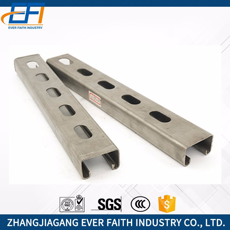 Cold Rolled Steel Hot Sale Punched Holes C-Type Channel Steel