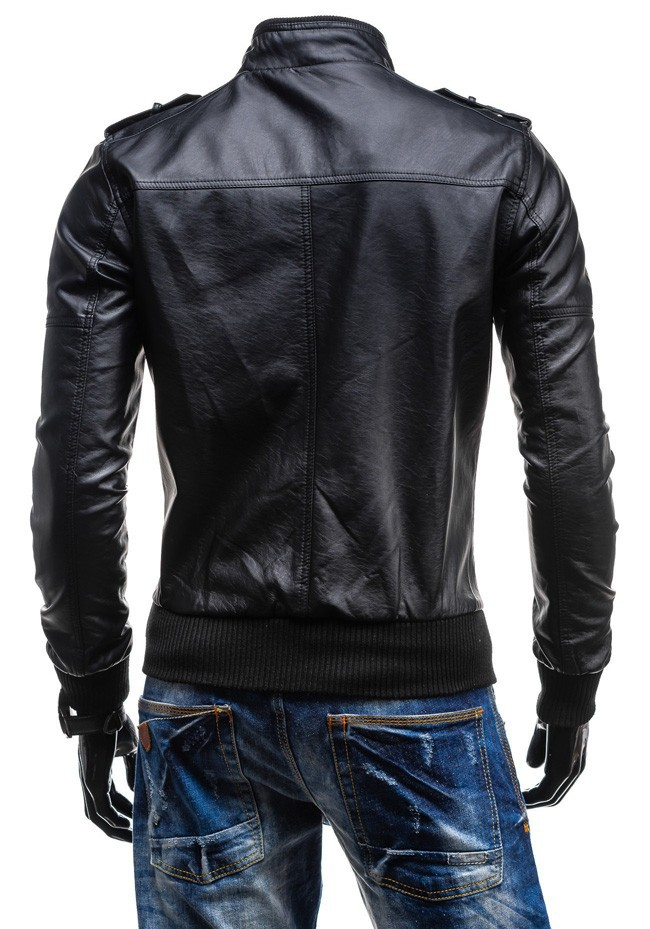 c2f8fc7eb4c 2019 Wholesale Motorcycle Jacket Mens Slim Fit Leather Jacket ...