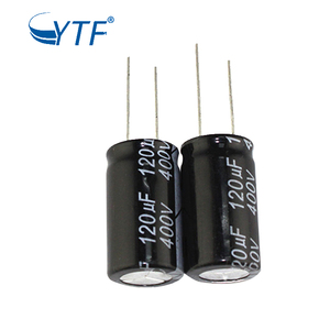 Standard Aluminum Electrolytic Capacitor AC Dual Capacitor 120uf 400v 18*30MM 20% In Stock