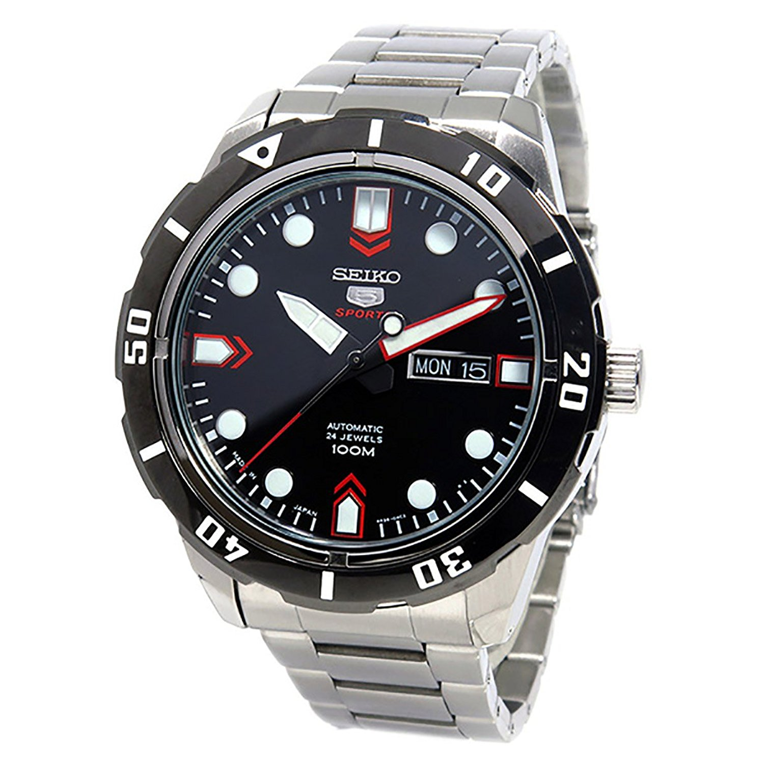 Seiko Mens 5 SPORTS Automatic Analog Sport Automatic Watch (Imported) SRP673J1
