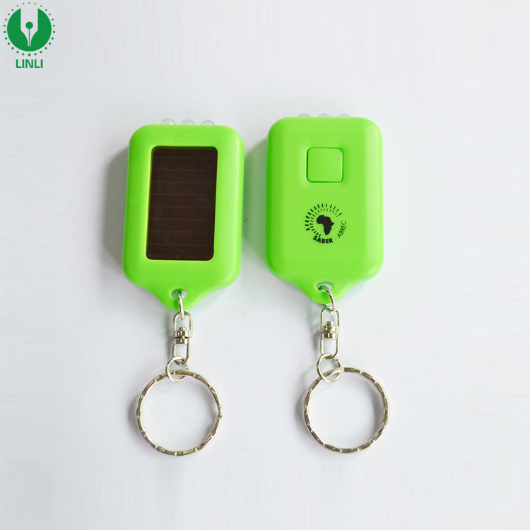 """Personalized Name Lights Up Solar Powered Custom Name Key Chain 2.6/"""" Long"""