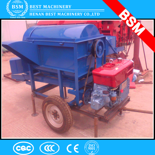 BSM hot supply rice thresher mini small wheat rice mobile thresher Small paddy thresher