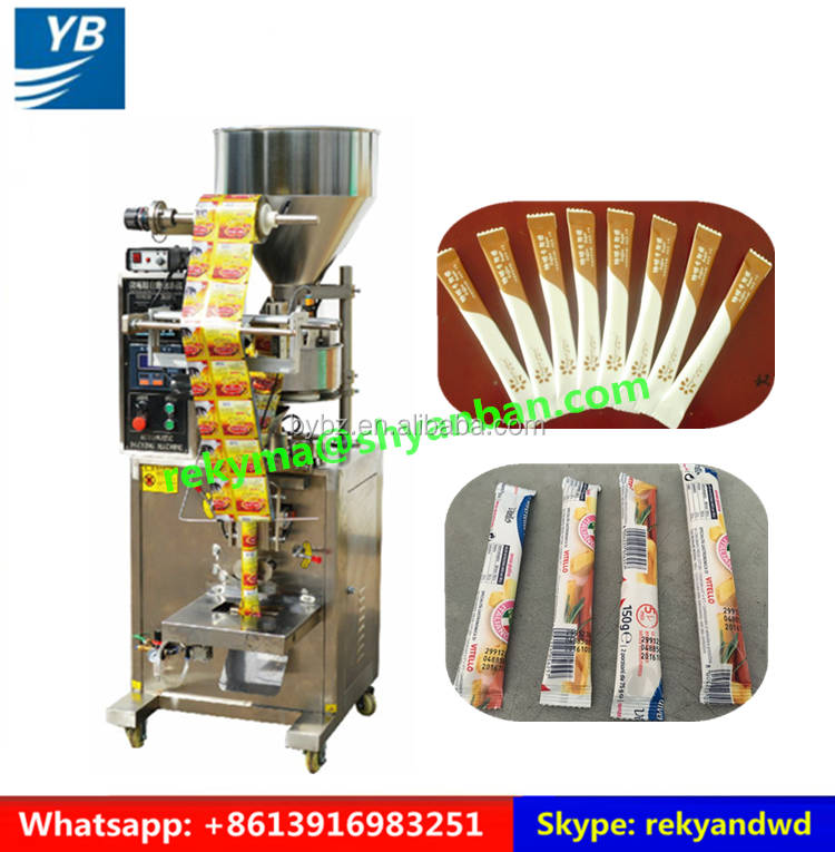 3 in 1 Coffee Sugar Granule Back Sealed Stick Packing Machine