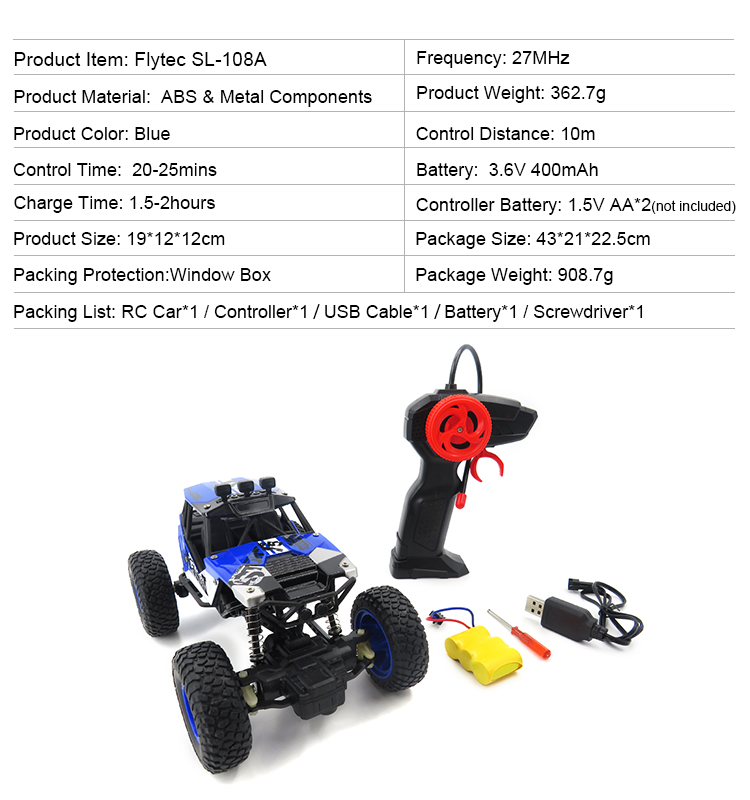 3.SL-108A_Blue_27MHz_Mini_4WD_Off-Road_Climbing_Remote_Control_Cars_Toy