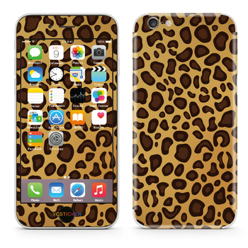 Custom leopard pettern phone skins for iphone vinyl stickers mobile phone full body 3m skin wrap