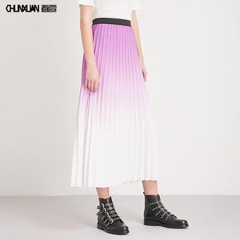 77fb32030 Elegante Cintura Alta Gradiente Color Maxi Faldas De Las Mujeres - Buy  Falda De Alta Calidad Mujer,Falda Plisada,Último Diseño De Falda Larga ...