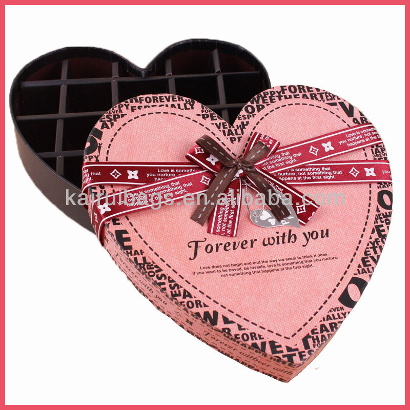 Brand Handmade Chocolate Box & Heart Shape Chocolate Packaging Box