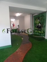 commercial fake grass for fair show decoration