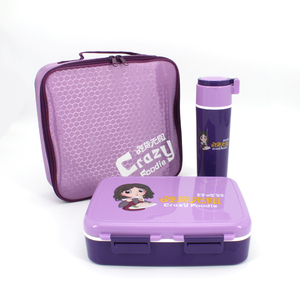 Back To School Insulated Bento Lunch Box Idea with Water Bottle Bag Kit