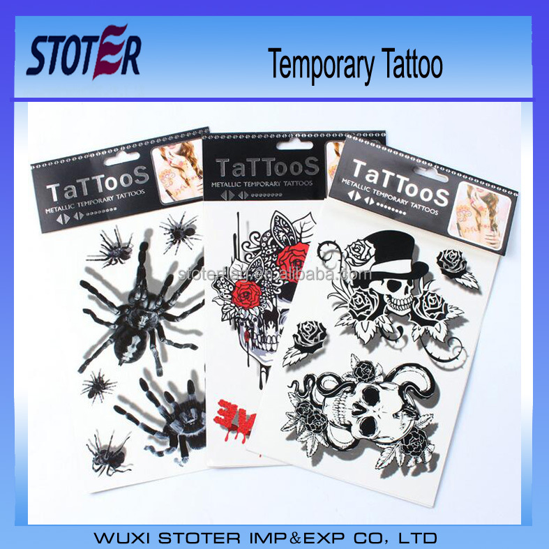 wholesale chinese factory cheap promotional golden 3D Temporary Tattoo