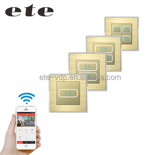 Smart home touch light zigbee wall switch power socket via wifi networks and app for remote control