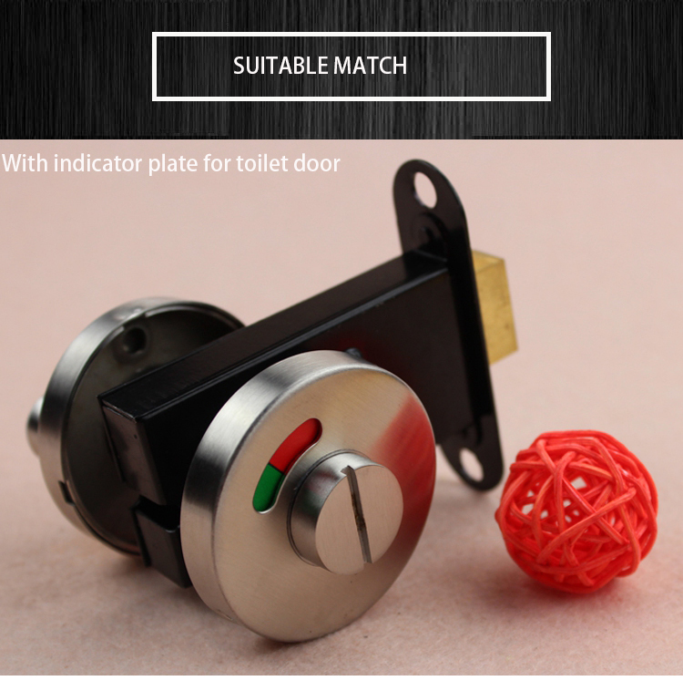 Bathroom Indicator toilet door tumbturn bolt lock / WC Coin Lock