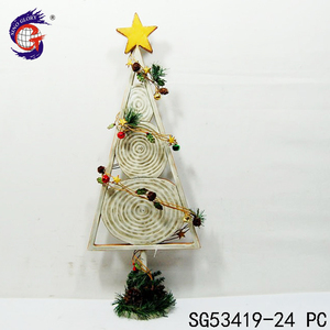 Factory price fashion indoor metal white christmas tree decoration top star