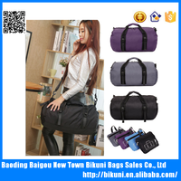 Waterproof nylon folding sport bag high quality sport foldable travel bag wholesale