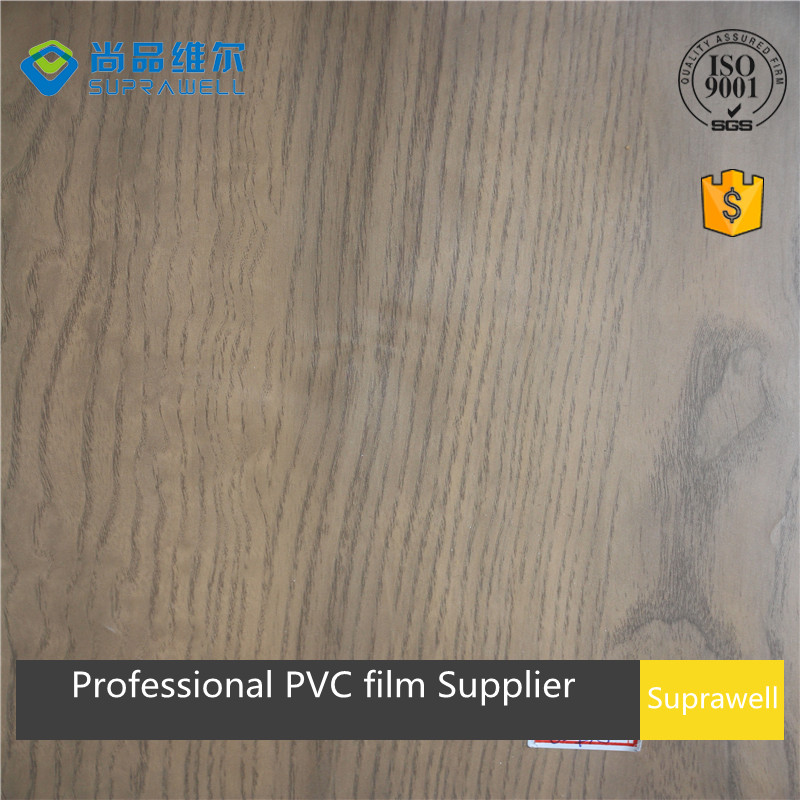 2017 new design texture pattern wood grain PVC film/foil