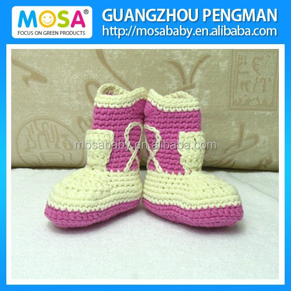 Crochet Baby Cowgirl Boots ,Newborn Baby Girl to Toddler Booties Cream and Lavender Three sizes