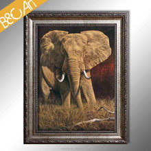 Modern digital picture photo African elephant canvas print wild animal oil painting