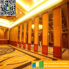 Manufacturer Aluminium Excellent Quality Interior Decorative Wall Covering Operable Partition Wall