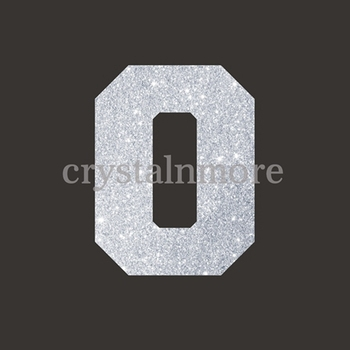 Hotfix Rhinestone Transfer Jersey Number 0 for T Shirts