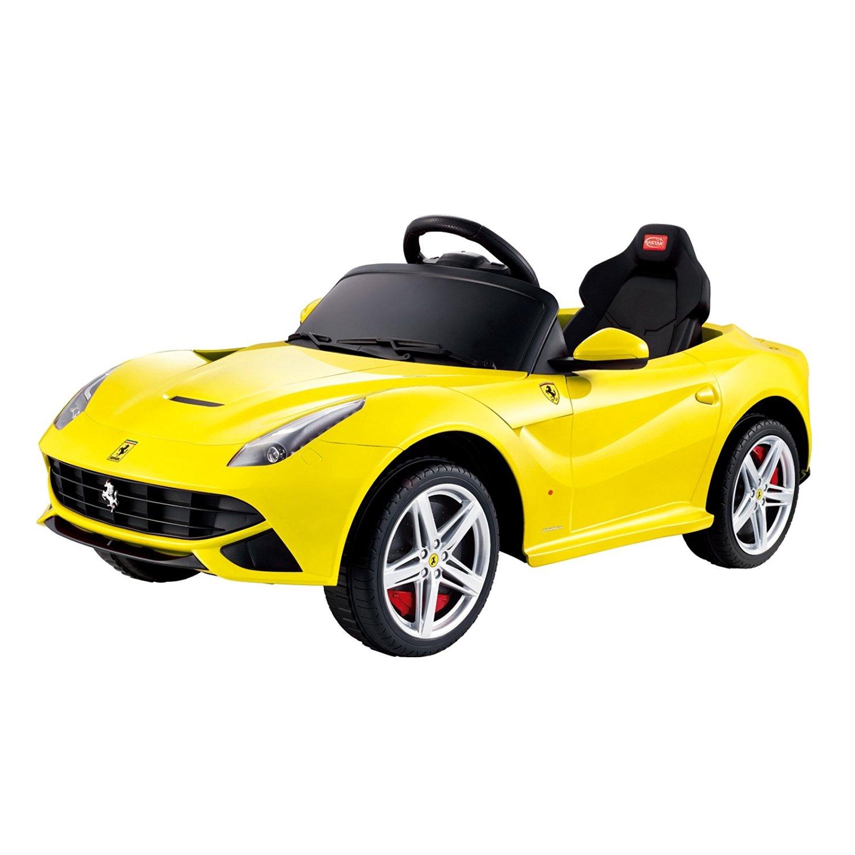 Licensed Ferrari F-12 12V Kids Battery Powered Ride On Car - Yellow