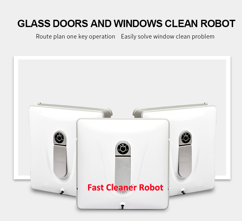 Wet and Dry magnetic window cleaning robot with remote control