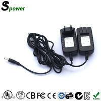 Adaptor 5.5mm 2.1mm Dc Plug Power Adapter 12V 2A 24W with CE GS ROHS FCC CUL US KC PSE C-tick SAA Level VI Certifications