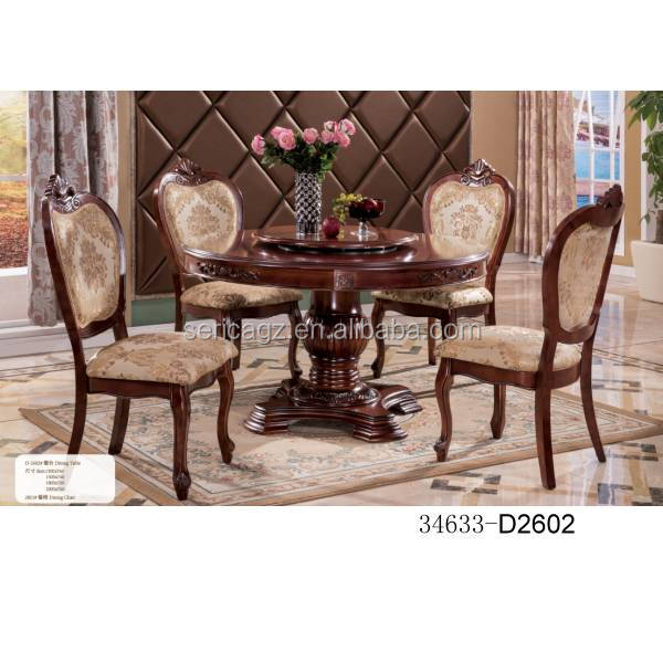 34633-D2602 Wooden dining set 1+4 Country and classic style