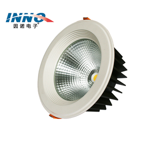 China manufacture aluminum 20w 30w 40w 50w indoor dimmable recessed led downlight cob