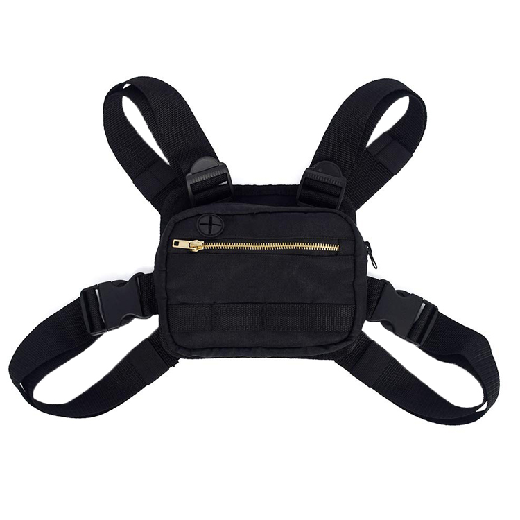 Fashion Adjustable Chest Bag Multi-purpose Outdoor Nylon Mens Chest Rig Bag