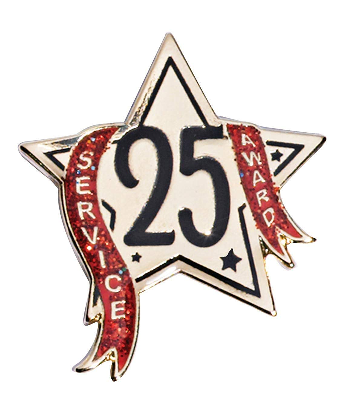 Package of 12 Poly Bagged 1//2 Inch Gold Star Lapel Pin