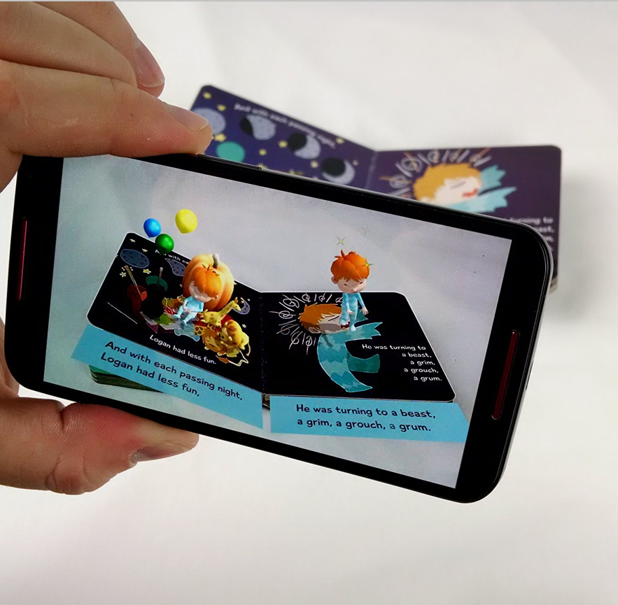 Animation in Augmented Reality(AR) Coloring Educational Books for Kids
