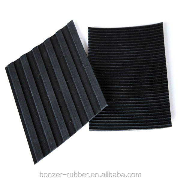 3mm*2m*10m slip free Corrugated Ribbed polymer sheeting Rubber Matting manufacture