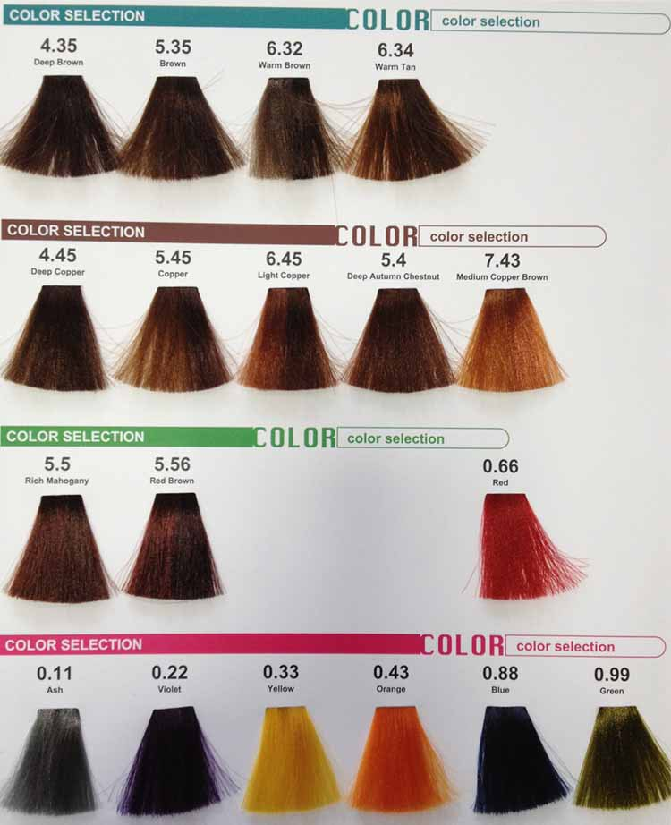 Free Sample Professional Oem Italian Hair Color Without Ammonia – Sample Hair Color Chart