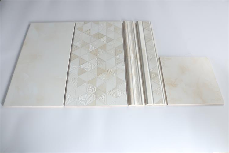 300X600mm Light Yellow Glossy Glazed Ceramic Bathroom Wall Tiles